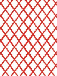 Antique lattice positive red outdoor