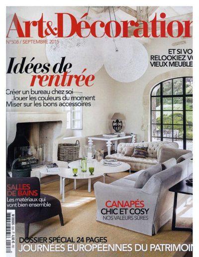 Art et Décoration Septembre 2015 - Page 1