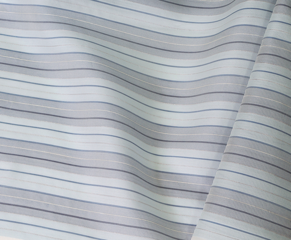 Rain blue and silver sheer on paper rice silk